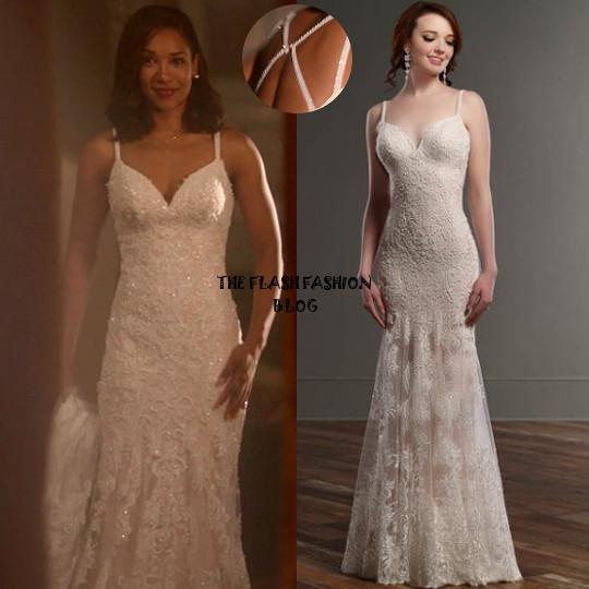 the flash 4x03 iris wedding dress