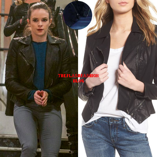 the flash 4x19 caitlin leather jacket