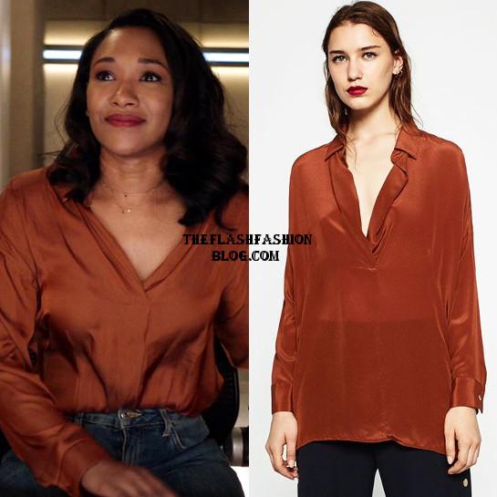 the flash 4x21 iris blouse